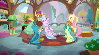 Young Six laughing in Fluttershy's class S8E2