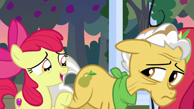 """File:Apple Bloom """"learnin' all about Mom and Dad"""" S7E13.png"""