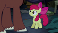 Apple Bloom looking up at Trouble Shoes S5E6.png