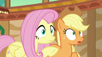 Applejack's eyes widen with shock S6E20