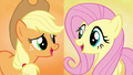 """Applejack and Fluttershy sing """"and we'll make"""" S5E3.png"""