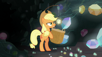 Applejack fails to catch a single fragment S9E19