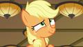 Applejack giving an innocent smile S6E23.png