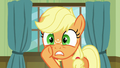 Applejack whispering loudly to Granny Smith S6E23.png