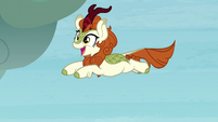 Autumn Blaze leaps through the air S8E23