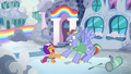 Bow Hothoof surprised by Scootaloo's hoofshake S7E7.png