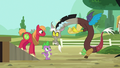 Discord appears in front of Spike and Big Mac S6E17.png