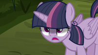 Fake Twilight Sparkle acting sinister S8E13
