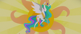 Final shot of Celestia raising the sun MLPTM