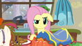 Fluttershy annoyed by Zephyr's behavior S6E11.png