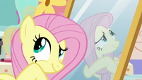 Fluttershy looking around Discord's house S7E12