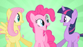 Happy Fluttershy Pinkie Pie and Twilight S01E25.png