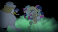 Lyra and Sweetie Drops restraining Derpy EG2.png