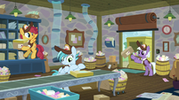 Mailponies in the back mailroom S8E10