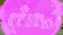 Mane Six enclosed in teleportation magic S9E2