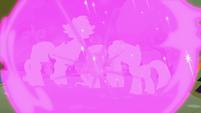 Mane Six enclosed in teleportation magic S9E2