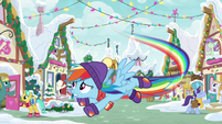Rainbow Dash frantically flying MLPBGE