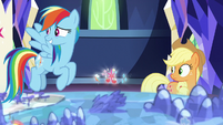 Rainbow Dash looks apologetically at Starlight S7E26