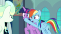 Rainbow plugs Twilight's muzzle again S6E24.png