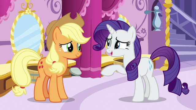 "File:Rarity ""that dress did look a bit like a disco ball"" S7E9.png"
