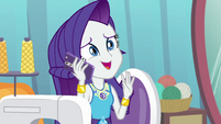 Rarity making nervous sounds EGROF