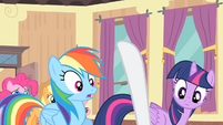 Rarity with her hoof up S4E08