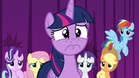 Twilight Sparkle overcome with regret S8E7