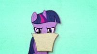 Twilight Sparkle reading wedding invitation BFHHS1