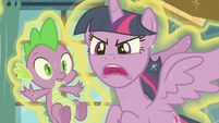 Twilight Sparkle snaps at Flurry Heart S7E3