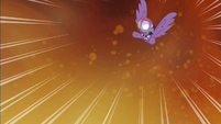 Twilight flying fast towards the ground S4E26