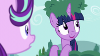 Twilight sees Derpy in the sky S6E6