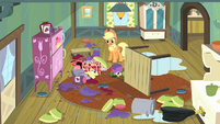 Applejack sees the mess S4E17