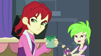 Canterlot High students glaring at Sunset EG2