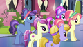 Crystal Ponies gather around Spike and Crystal Hoof S6E16.png