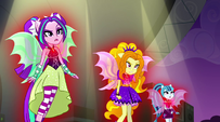Dazzlings interrupted by the Rainbooms' music EG2