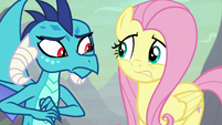 Ember and Fluttershy look nervous S9E9