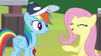 "Fluttershy ""put in a lot of hard work"" S9E15"