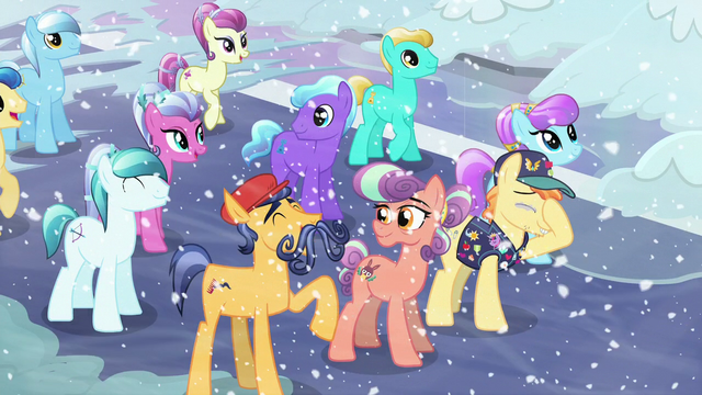 """File:Mustache Crystal Pony """"She's beautiful!"""" S6E2.png"""