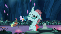 Ocellus in a meditation pose S9E3