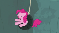 Pinkie Pie swinging from a tire S7E5