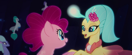 Princess Skystar takes Pinkie Pie by the hooves MLPTM