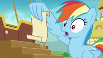 Rainbow Dash -don't get too excited- S8E5