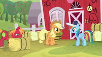 Rainbow Dash asks Applejack for help S9E15