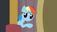 Rainbow Dash encouraging Quibble S9E6