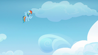 Rainbow Dash gestures for Vapor Trail to follow S6E24