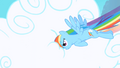 Rainbow Dash punching through clouds S1 Opening.png