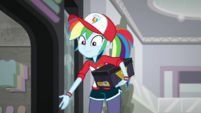 Rainbow Dash reaches a helping hand to Sunset SS16