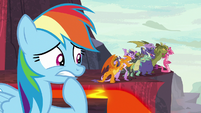 Rainbow Dash worried about Spike S7E25