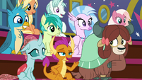 Smolder -except maybe stand on stage- S8E21