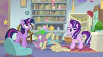 Spike reading a long royal decree S9E20